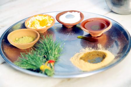 Tel Baan Ritual in Indian Wedding