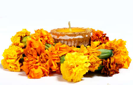 Diwali Diya, oil lamp beautifully decorated on the festive occasion of deepavali, deepawali in india