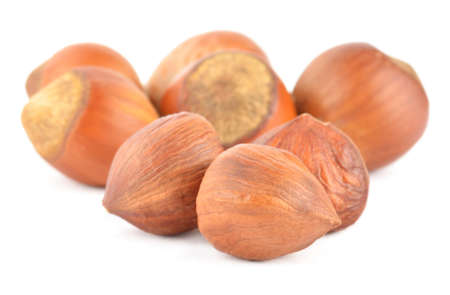 Hazelnuts isolated on white Reklamní fotografie