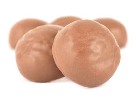 초콜릿 사탕에 격리 된 화이트 스톡 콘텐츠