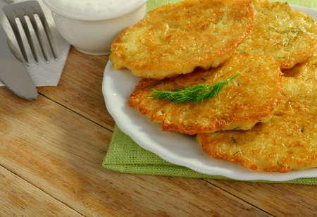 Potato pancakes Reklamní fotografie