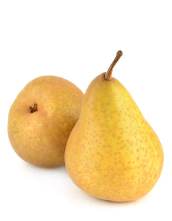 Two pears isolated on white