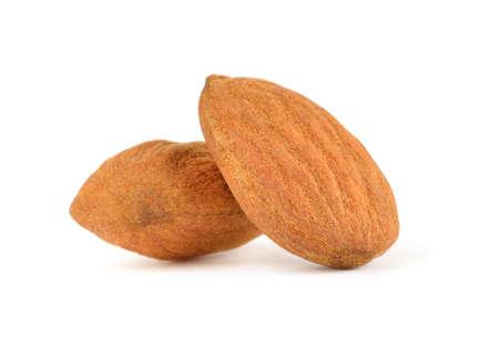 Almonds isolated on white Reklamní fotografie