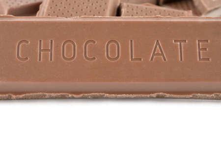 초콜릿 화이트 절연 스톡 콘텐츠