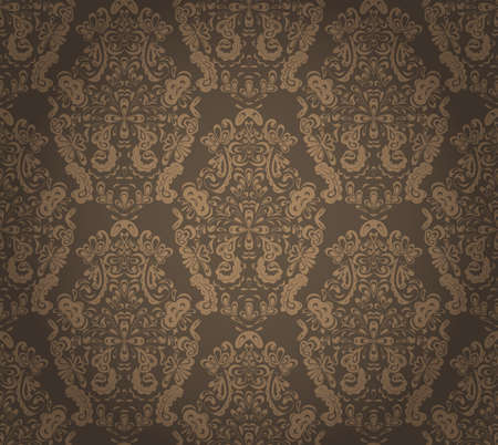 vintage scrolls: Seamless pattern