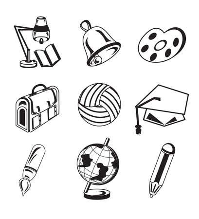 Set of school icons