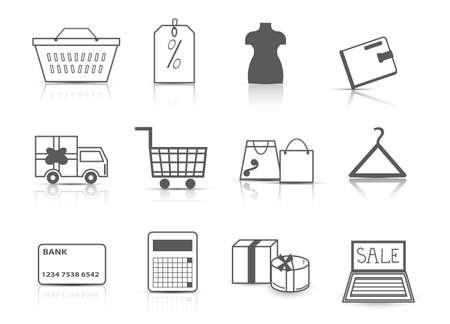 Set of shopping icons Ilustrace