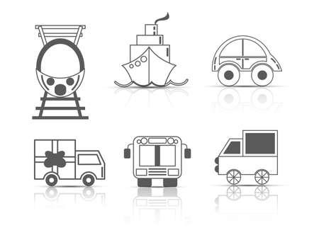 Transport icons sets Ilustrace