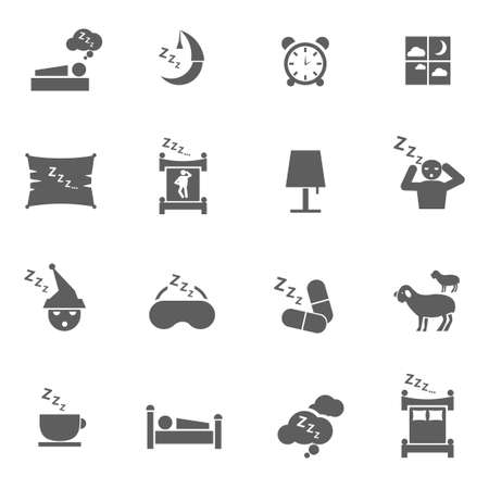 Set of sleep icons symbol signs