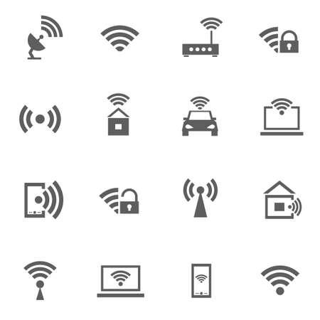 와이파이 무선 신호 인터넷의 설정 일러스트