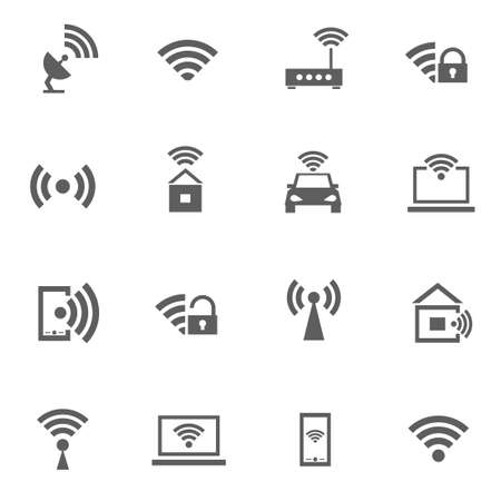 wireless signal: Set of wifi wireless signal internet Illustration