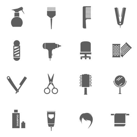 Set of hairdresser barber shop vector icons Illustration