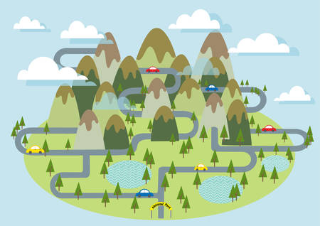 national park: Tourism Mountain National park vector illustration