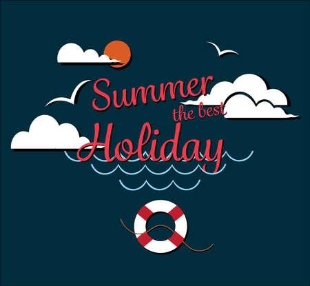 ポスター夏最善の休日をお楽しみください