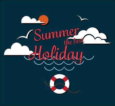 Poster Summer thebest  holiday enjoy Иллюстрация