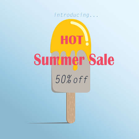 summer sale ice creams colorful symbol , poster fasion sale advertisement