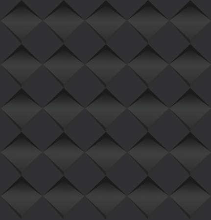 黒を抽象的な正方形のアートの背景のベクトル