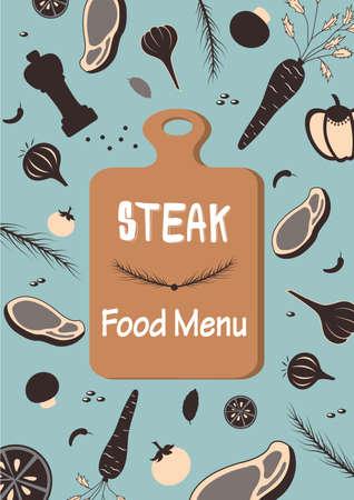 ステーキ料理メニュー原料野菜牛肉