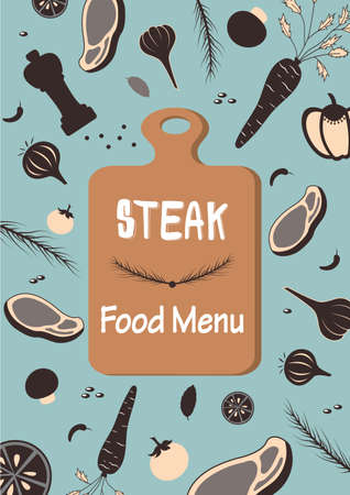 Steak food menu raw material vegetable beef