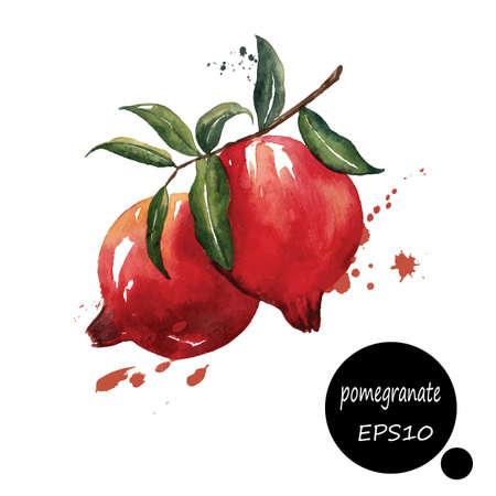 style design for the label, cover, book fruit plantpaper texture blots brush illustration EPS10