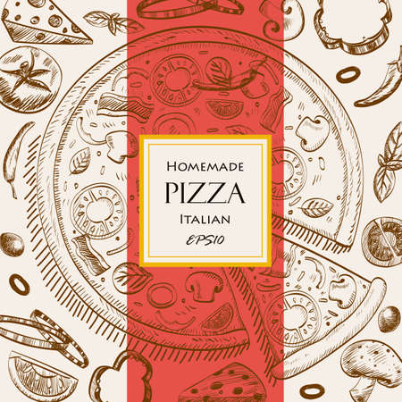 italian pizza: modern vector illustration EPS10