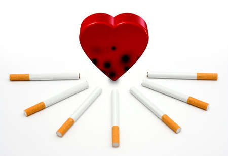 heart under: Heart under attack by cigarettes