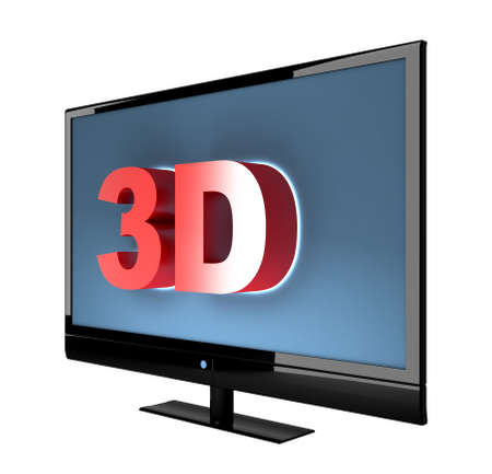 3d Lcd or Led Tv. High Quality 3d Render.  photo