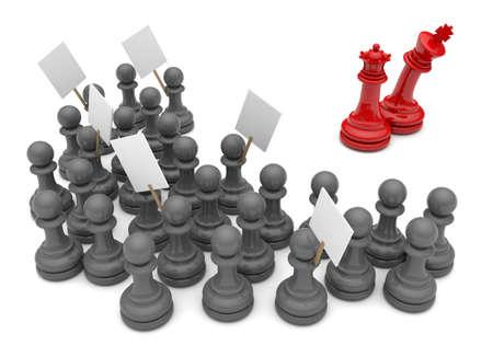 revolt: Pawn Revolt Concept  King hiding behind the queen