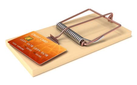 Credit Card in Mousetrap photo