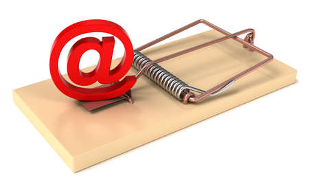 spam mail: E-mail Symbol in Mousetrap