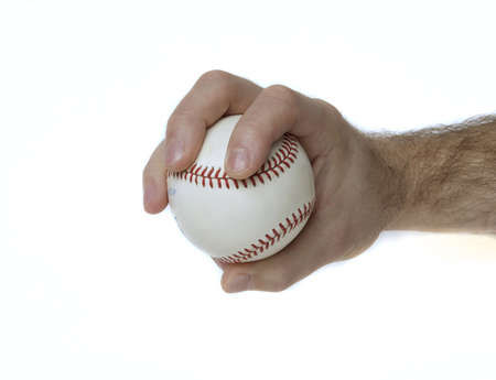 Illustrates how to hold a baseball to throw a changeup. Stock Photo - 5677507