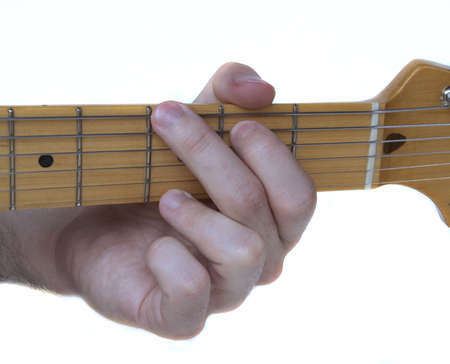 fingering: Closeup of a G Major Guitar Chord Fingering