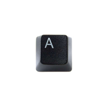 alphabet keyboard: The Letter A From a Black Computer Keyboard Stock Photo
