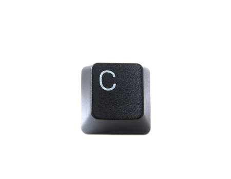 The Letter C From a Black Computer Keyboard Stock Photo - 5755837