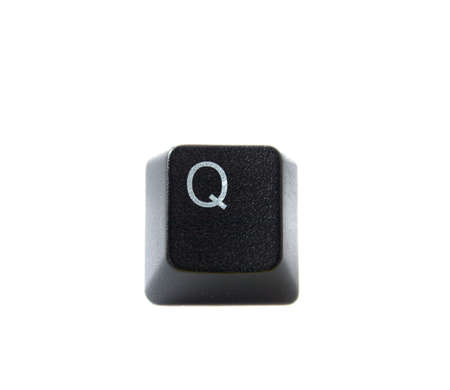 The letter Q from a black keyboard photo