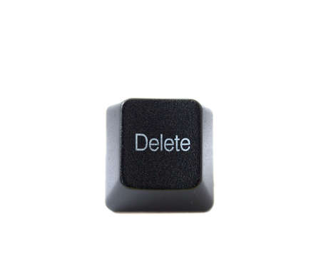 del: The Delete key from a black computer keyboard