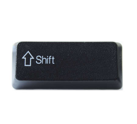 alphabet keyboard: The Shift key from a black computer keyboard