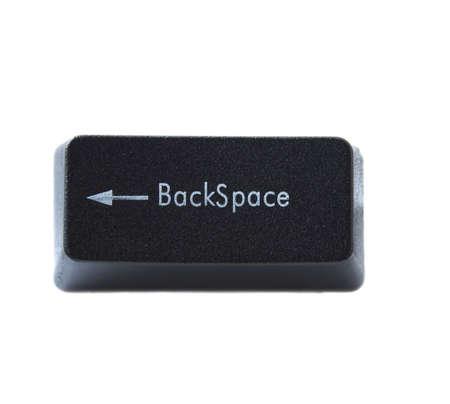 La tecla de retroceso desde un teclado de computadora negro  Foto de archivo - 5766373