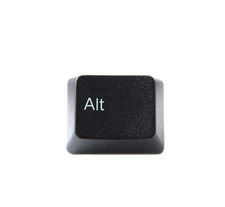 The ALT key from a black computer keyboard photo