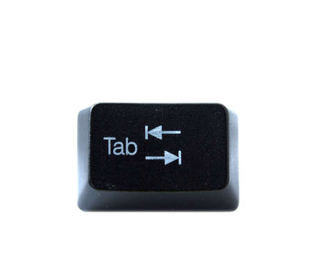 alphabet keyboard: The Tab key from a black computer keyboard Stock Photo