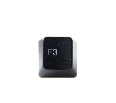 The F3 key from a black computer keyboard. photo