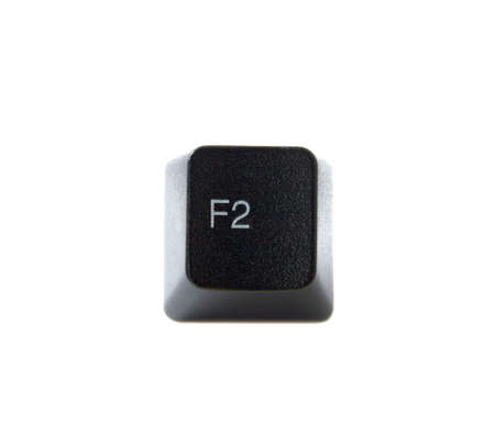 function key: The F2 key from a black computer keyboard