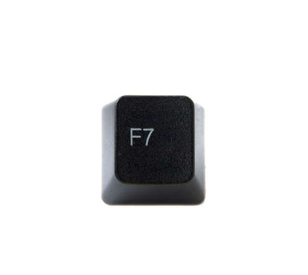 The f7 key from a black computer keyboard