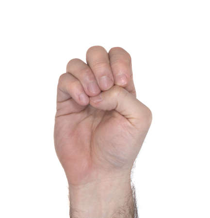 How to sign the letter E using American Sign Language  photo