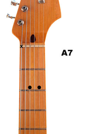 Diagram Of How To Finger An A7 Guitar Chord Stock Photo Picture