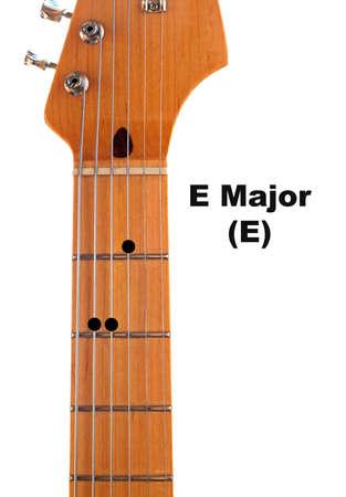 e guitar: Diagram of how to finger an E Major Guitar Chord.