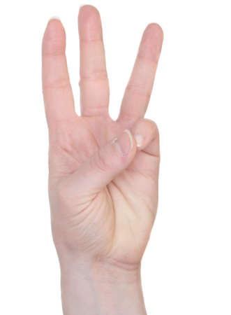 asl: Example of how to sign the number 6 in American Sign Language