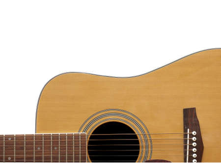 Crop of an Acoustic Guitar with Adspace Stock Photo - 7794472