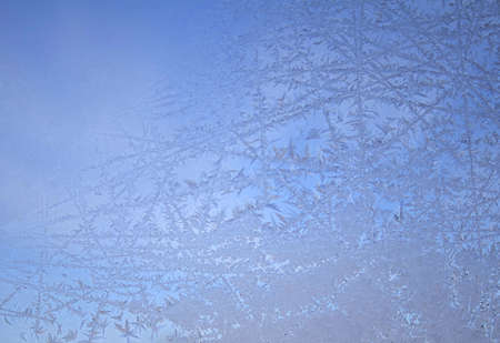 A beautiful ice crystal background showing the incredible beauty that nature creates. photo