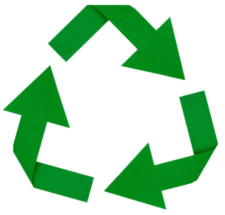 Photo of a green reduce, reuse, renew, recycle symbol photo
